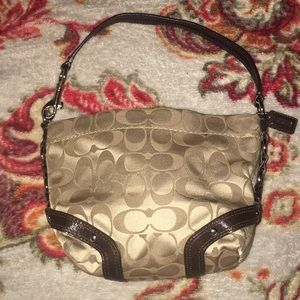 Coach Handbag, Silver Buckles on sides